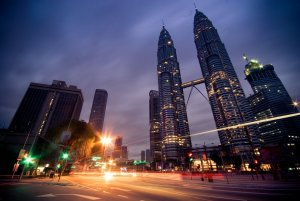 Relocation to Malaysia - worms eye of twin towers